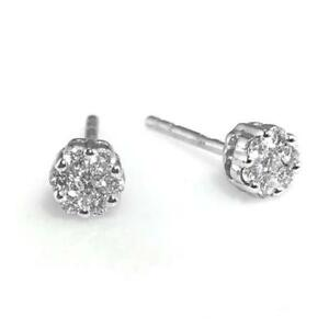 310afc07604ead Diamond Stud Earrings 0.20ct F VS Round Brilliant Cut in 18ct White ...