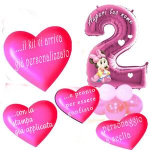 Palloncino Baby Minnie Numero2 Mylar Base Kit Fai Da Te