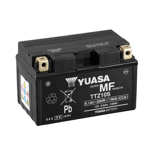 Bateria Yuasa TTZ10S = YTZ10S sin mantenimiento