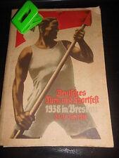 Deutsches Turn und Sportheft 1938 Breslau Fußball Meisterschaften Boxen Kanu