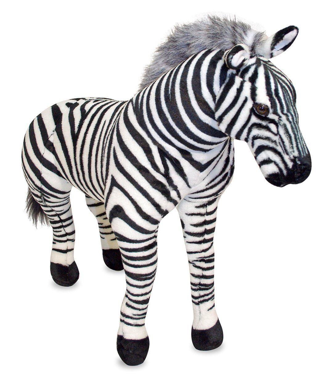 Melissa & Doug Zebra Plush Stuff Animal 3 Fuß Groß großes neues Spielzeug 3x3 Zebra