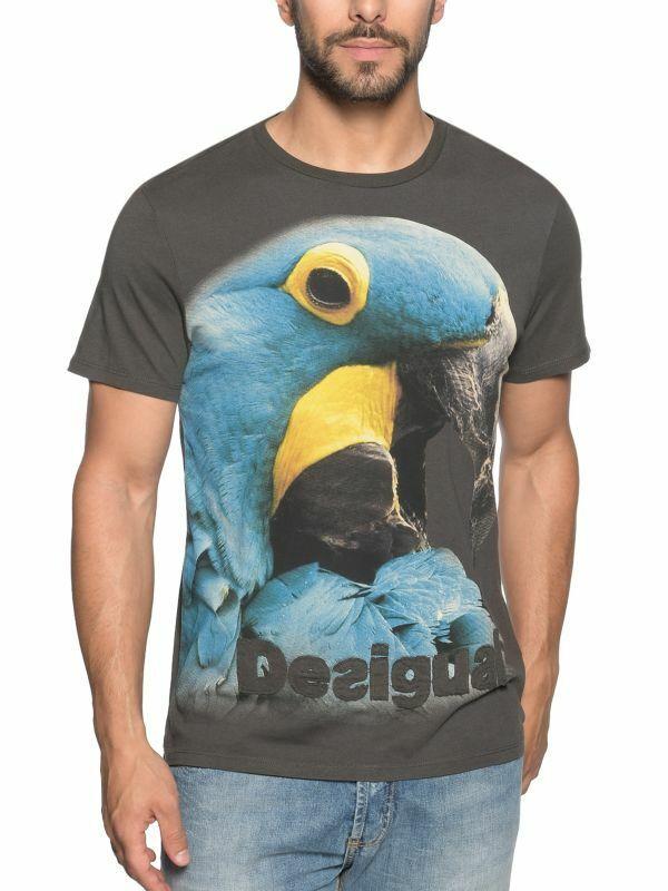 -50% Desigual Men`s 49T1415 T-Shirt PAJAREO BIS REP Size S M L XL NEW 49