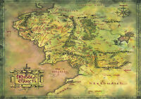Lord Of The Rings, Middle Earth Map Hobbit GIANT Print Poster,various sizes