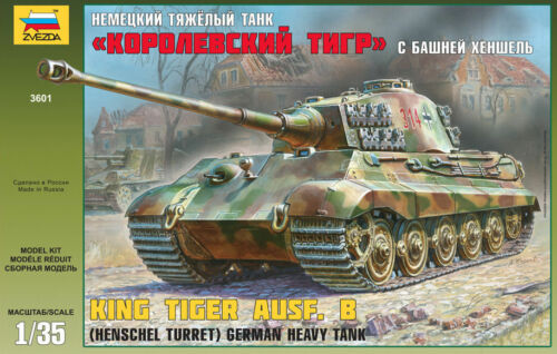 Zvezda 3601 German Heavy Tank KING TIGER AUSF.B Henschel turret 135