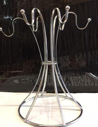 Élégant 6 Tasse Arbre Chrome Wire Stand Support Pour Maison Bar. Restaurants