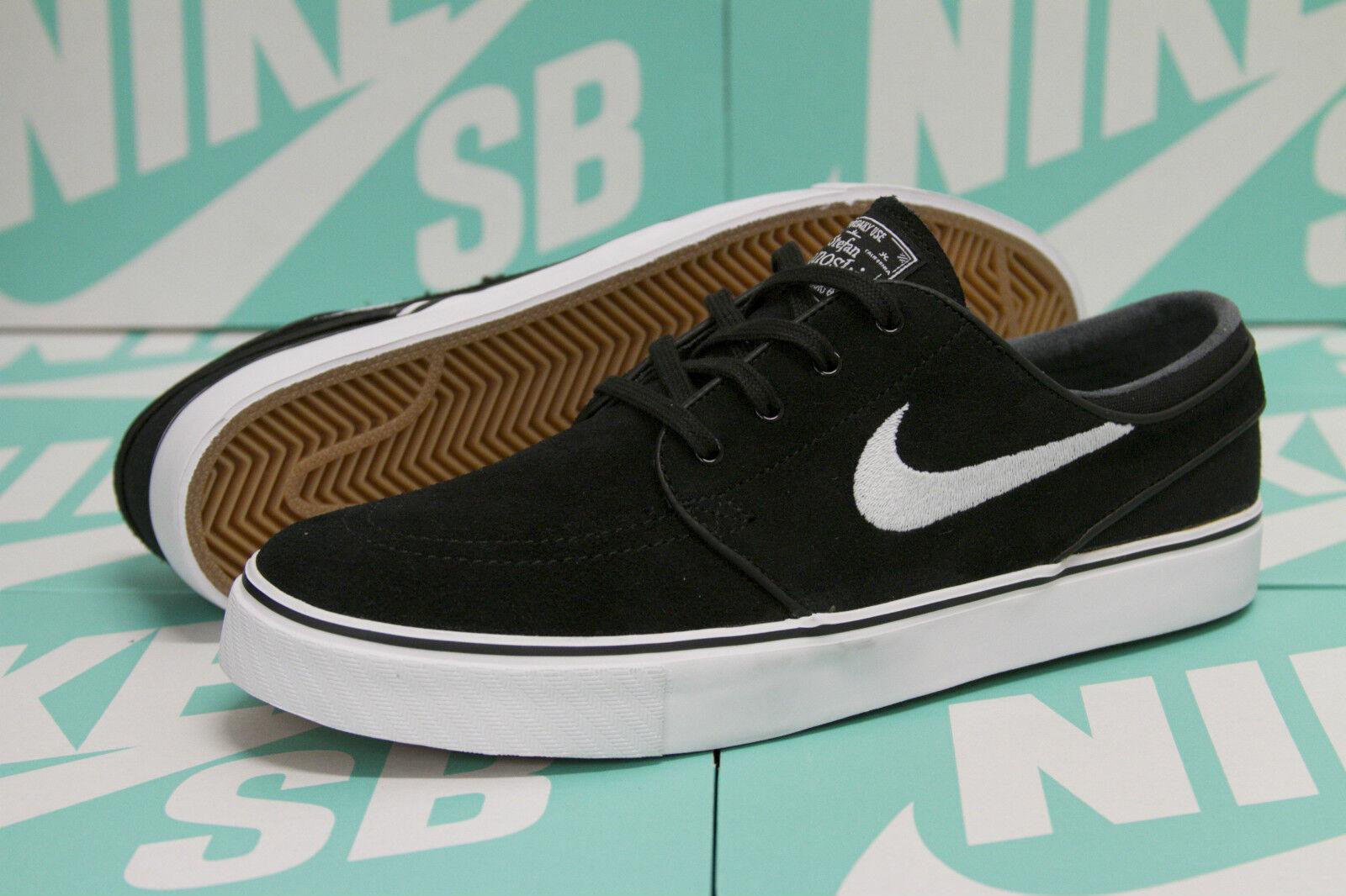 Nike sb zoom stefan janoski - nero / bianco 333824 camoscio - 026 - sz 10