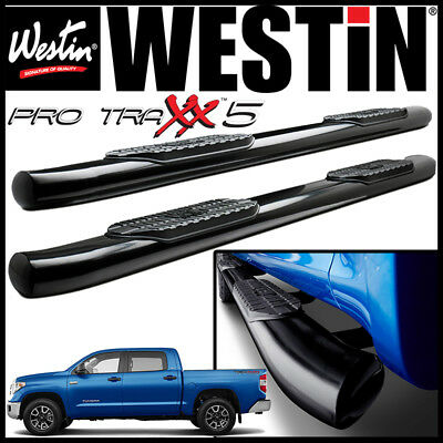 "Westin Pro Traxx 4/"" Oval Nerf Step Bars fit 2007-2018 Toyota Tundra Double Cab"