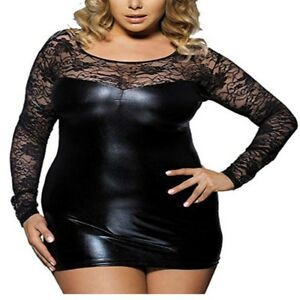 Women-Ladies-Sexy-Wet-Look-Bodycon-Evening-Party-Cocktail-Pencil-Club-Mini-Dress