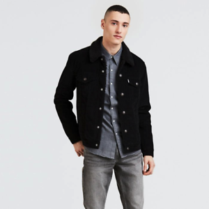 multiple colors competitive price highly coveted range of Details about New Levi's Men's Sherpa Trucker Jacket - Black Corduroy