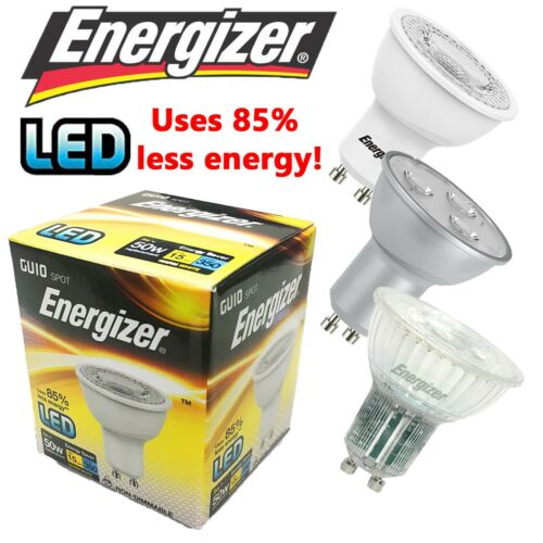 ENERGIZER LED GU10 SPOTLIGHT LAMP BULB 3W 5W ENERGY SAVING COOL//WARM WHITE
