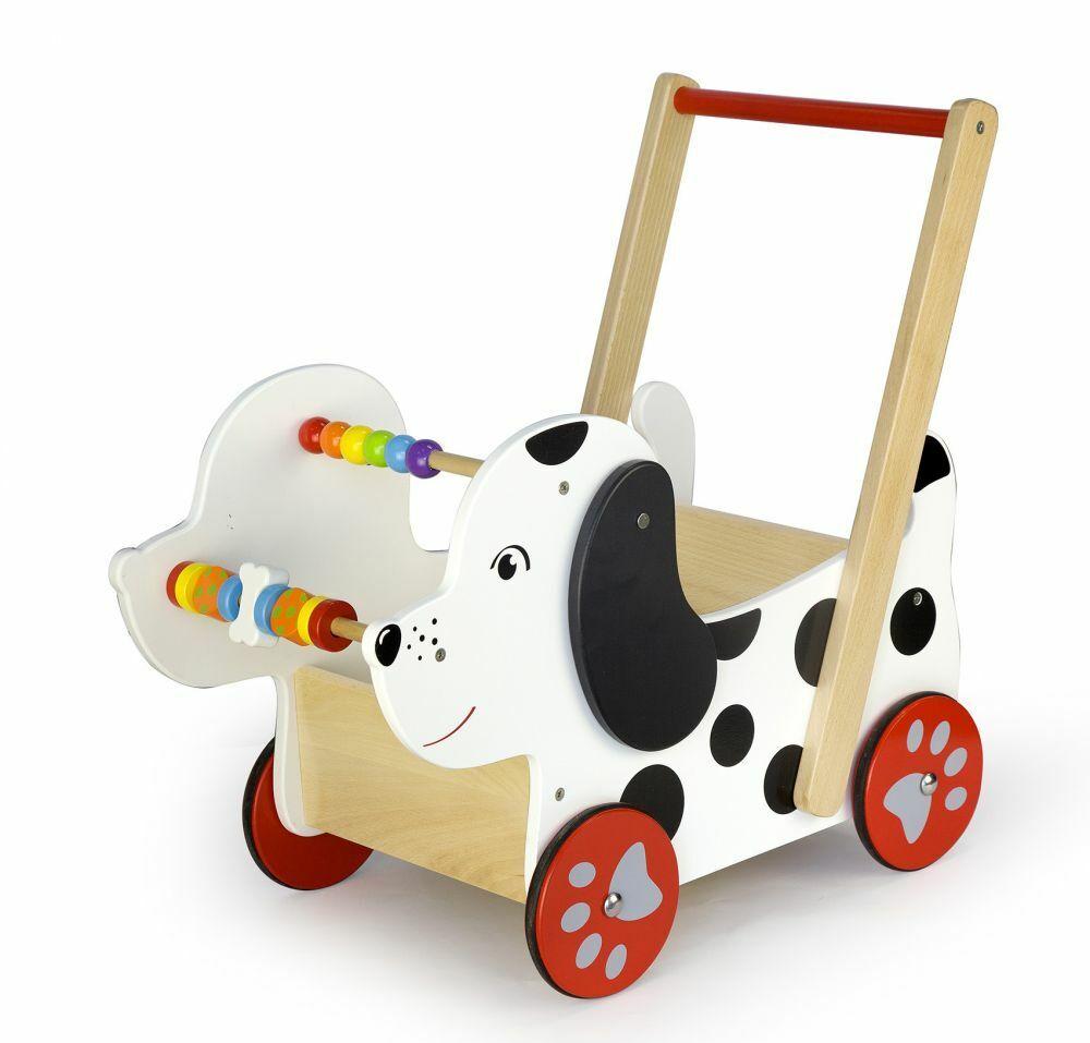 Lauflernwagen HUND Laufwagen Lauflernhilfe Laufhilfe Gehhilfe Motorik Kind Holz