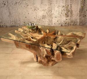 Wurzelholz Tisch Amazonas 110x70 Couchtisch Wohnzimmertisch Teakholz