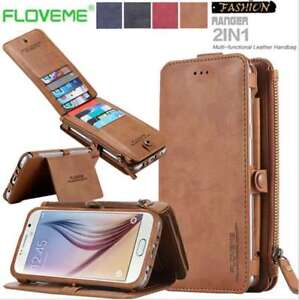 the best attitude 75140 c8271 Details about Floveme Retro Luxury Leather Card Slot Wallet Case Apple  iPhone Samsung Huawei