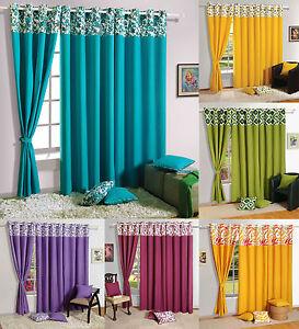 Charmant Image Is Loading Living Room Drape Panel Solid Premium Cotton Window