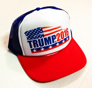 Image is loading MAKE-AMERICA-GREAT-AGAIN-HAT-Donald-Trump-TRUCKER- 49c89272ebe