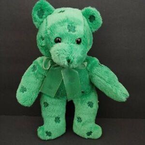Dan-Dee-Shamrock-Bear-Plush-Lucky-Clover-Teddy-Toy-10-034