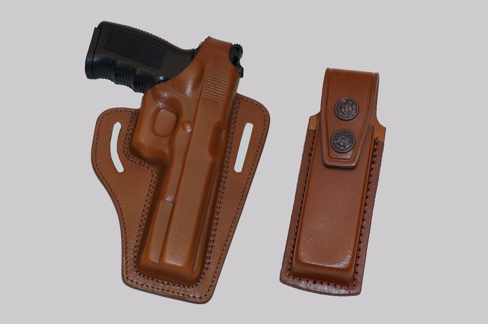 K34105 Pancake Leder Holster Thumb Break RH & Single Mag Case Sig Sauer P226