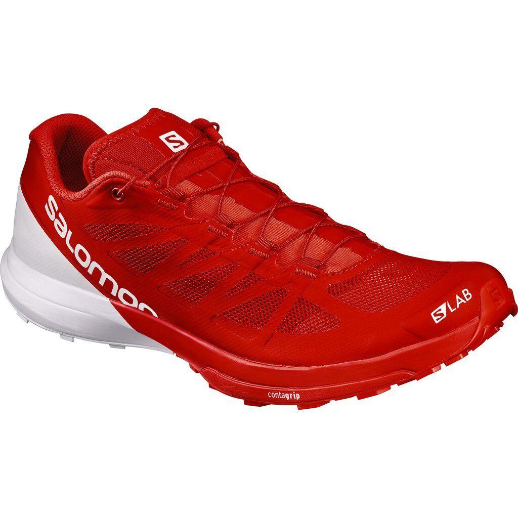 New Salomon Unisex S-Lab Sense 6 Trail Running shoes Size 10.5 Red