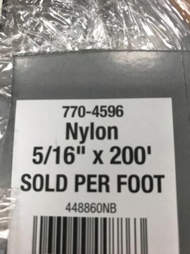 King Cord 5//16 By 200ft Nylon Braid Load Limit 135lbs On Original Spool