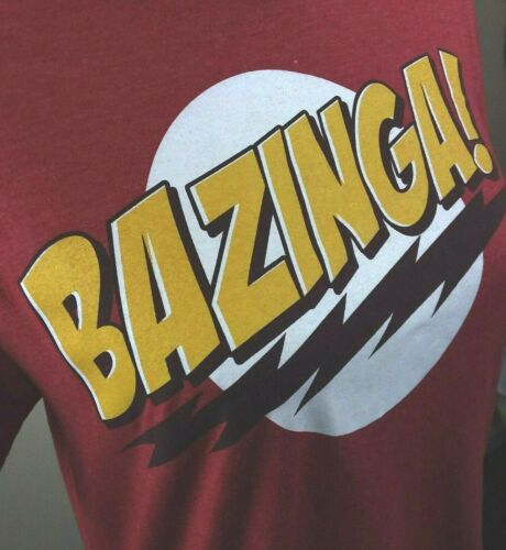 Big Bang Theory Bazinga Size S T-Shirt Red