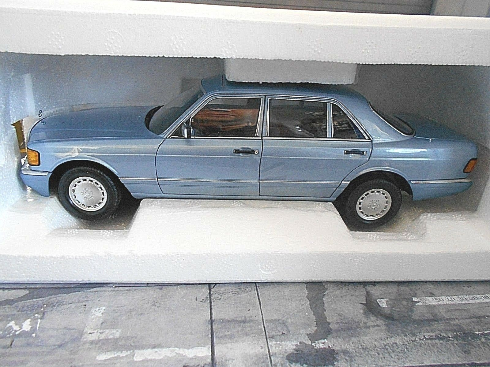 Mercedes benz clase s w126 Hell azul azul 560 sel 1990 norev Limited 1 18 nuevo
