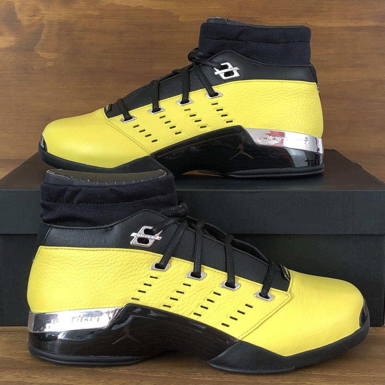 Air Jordan 17 Retro Low Solefly Reverse Lightning Yellow Black [AJ7321-003] Size