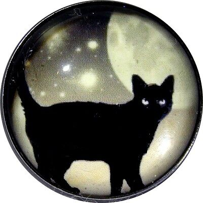 Black /& White Cat Silhouette BC 09 Crystal Dome Button FREE US SHIPPING