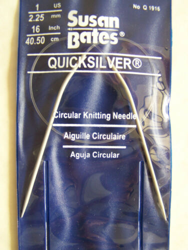 "Quicksilver Circular Knitting Needles 16/"" Select Sizes"
