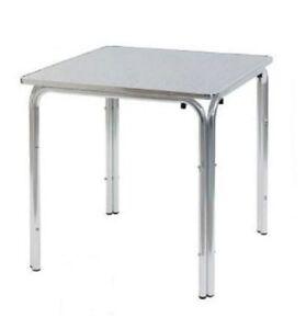 Tavolo alluminio top standard 60x60 a quattro gambe da - Tavoli pieghevoli per esterno ...