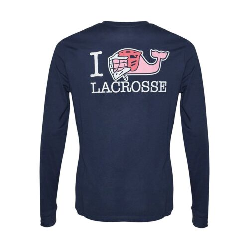 NWT Boys Vineyard Vines Shirt Lacrosse Whale L//S I Whale LAX Vineyard Navy B3