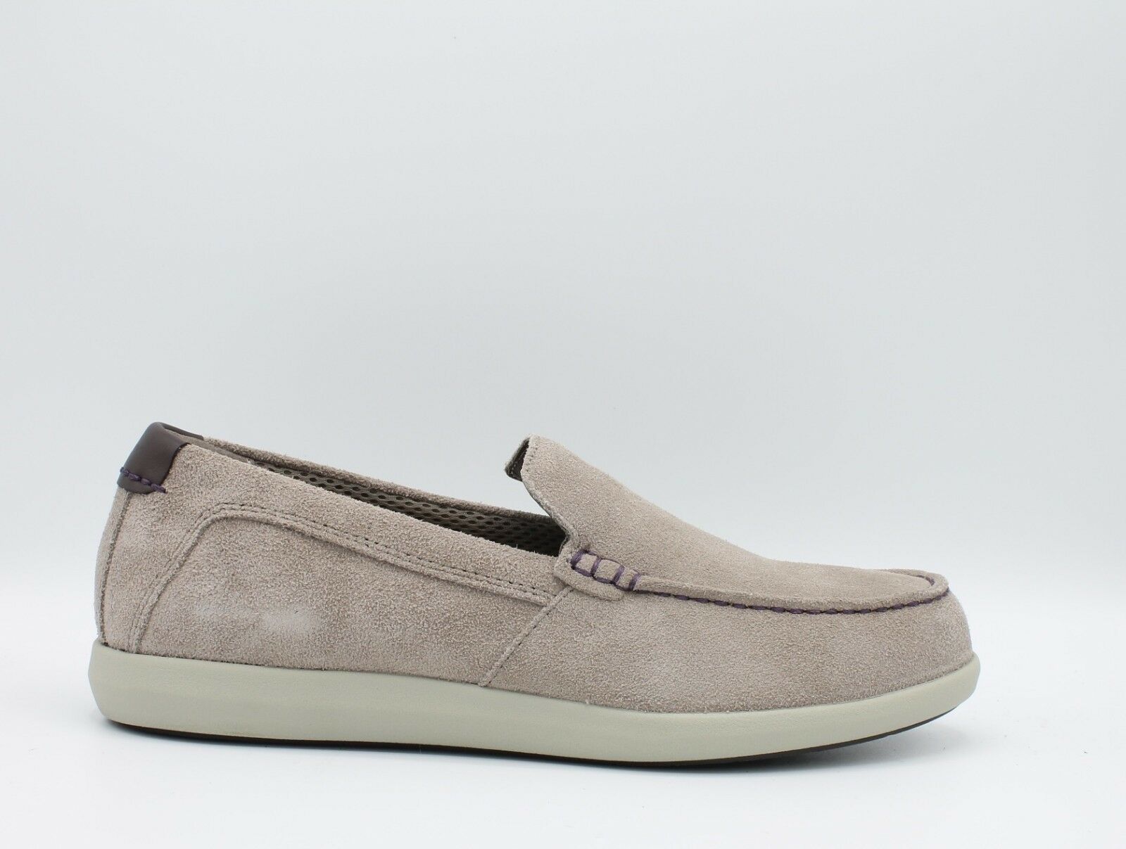 Geox Yooking U824NB chaussures hommes Mocassins Légers en Doux Daim Tourterelle