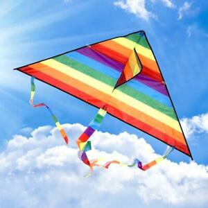 Large-delta-kite-for-kids-and-adults-single-line-easy-to-fly-kite-handle-funny