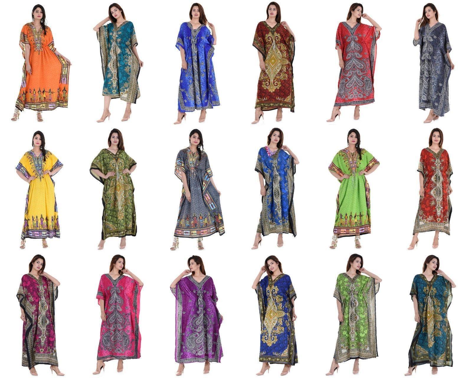 50 Pcs Valentin's Day Gift Assorted  Women Long Kaftan One Size Plus Caftan-Maxi