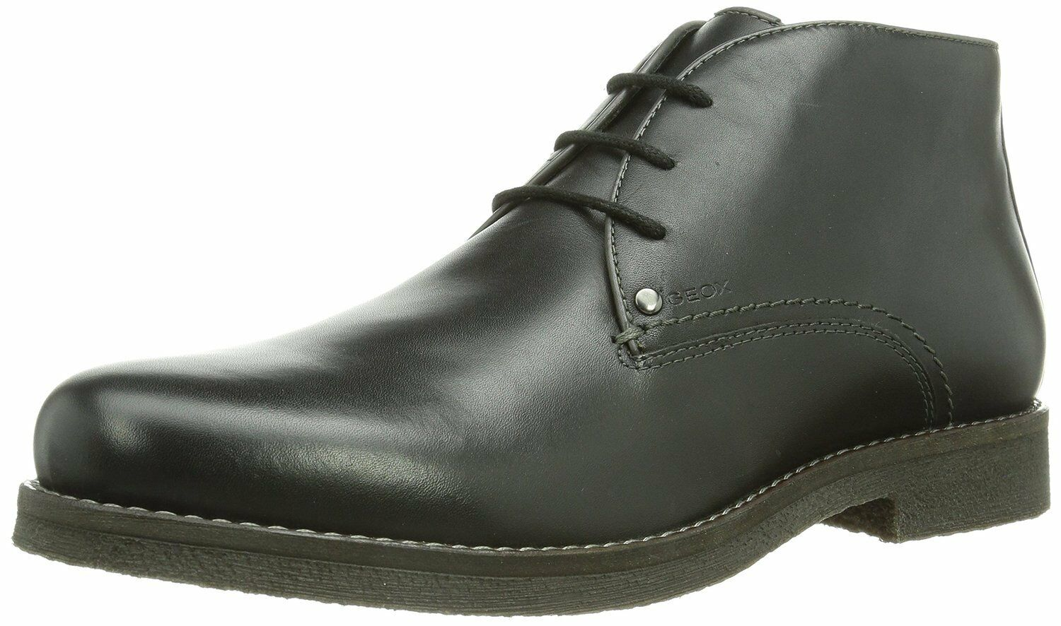 Geox Men's men Claudio Black Leather Chukka Boot