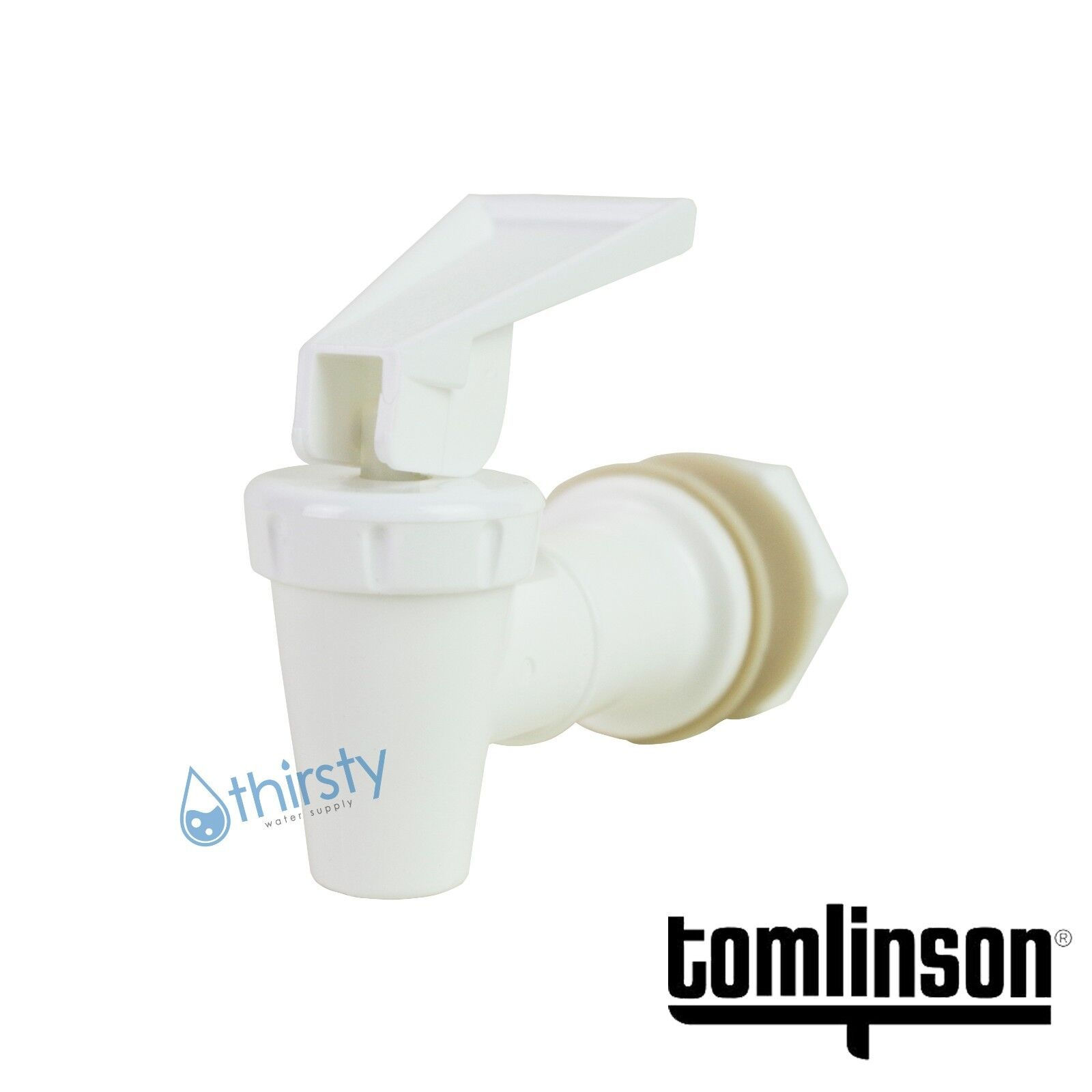 Room Temperature White Handle Pack of 20 Tomlinson 1008779 Water Dispenser Cooler Replacement Faucet