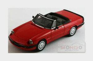 Alfa Romeo Spider Quadrifoglio Vert Ouvert 1986 3 Rouge Silas 1:43 Mr43103a.ra