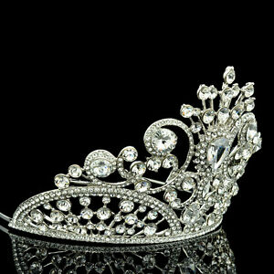 717b892b8 4 inches height Tiara Crown Swarovski Crystal for Bridal Wedding ...