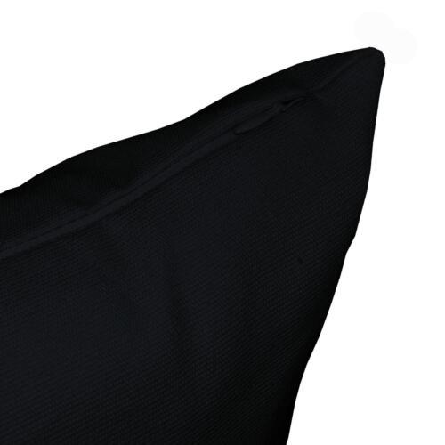 Aw30a Black High Quality 12oz Cotton Cushion Cover//Pillow Case Custom Size