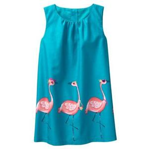 NWT-Gymboree-Sunny-Adventure-Flamingo-Dress-12-18-24M-2T-3T-4T-5T-Toddler-Girls