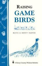 Raising Game Birds book~DIY How-to~BRAND NEW! incubating eggs-quail-pheasant