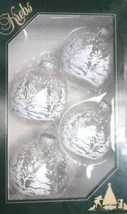 Transparente Christbaumkugeln.Details Zu Christbaumkugeln Kugel Winterwald Transparent Krebs Glas Lauscha