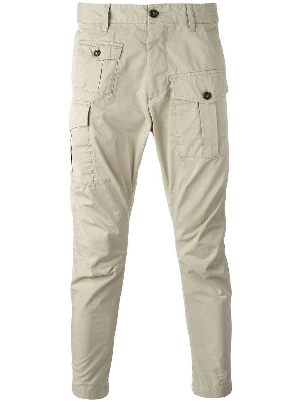 NEW DSQUARED2 Pantaloni Trousers grigio Dimensione  50 - RSP 480