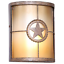 Texas Lone Star Outdoor Wall Mount Sconce Garage Patio Porch Light Unique Brass