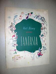 Walt-Disney-Presents-Fantasia-Program-1940-Great-Condition