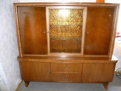Ca. 50 Jahre Alter Wohnzimmerschrank Holz Mit Glasscheibe Ca. 1960 1970