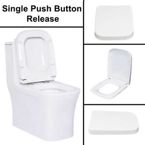 square toilet seat uk. Image Is Loading White Square Design WC Toilet Seat Soft Fix  Quick Release Hinge Easy