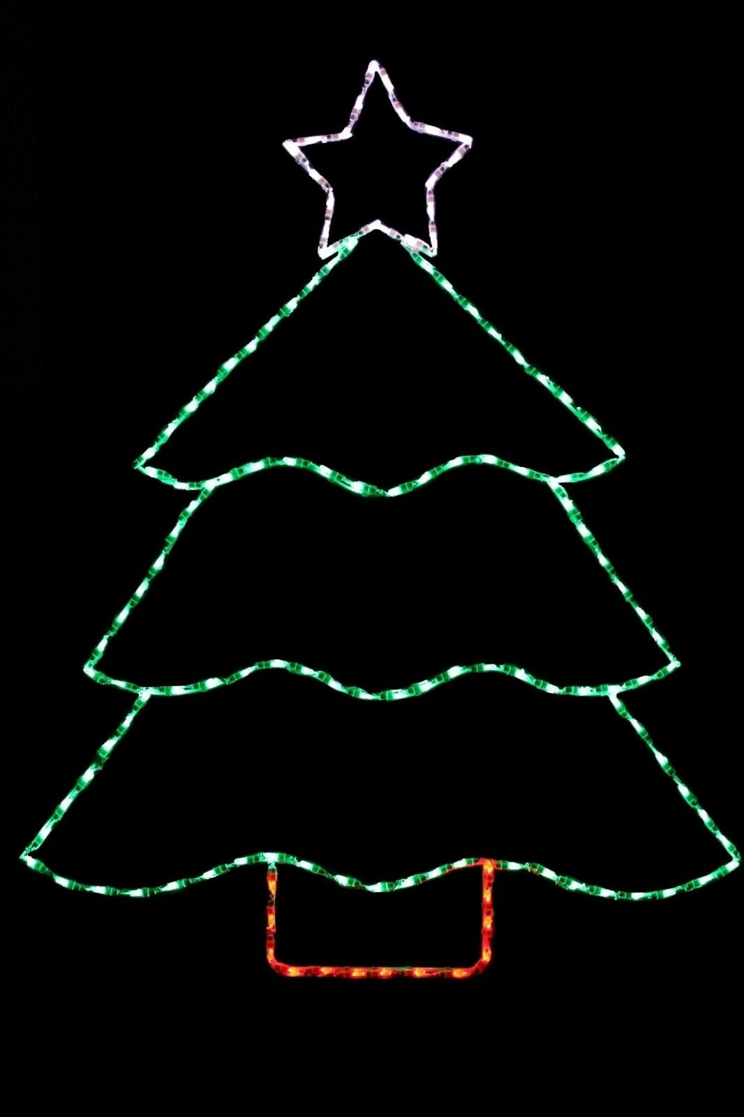 Christmas Tree With Star LED metal wire frame outdoor outdoor outdoor display 3097ac