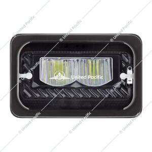 2-4x6-039-039-Led-black-Headlight-Sealed-high-Beam-universal-Peterbilt-Kenworth-34134
