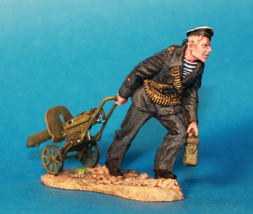 Russian infantry WW2 Tin toy soldiers, Metal 54mm, HAND PAINTED