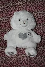 JAKKS 2007 25 Year Anniversary Special Edition White Care Bear w/ SWAROVSKI EYES